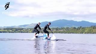 Like riding a bike on water - Manta5 Hydrofoil bike