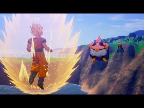 Dragon Ball Z Kakarot - Goku shows Majin Buu SSJ3 & Piccolo saves Gohan Cutscenes (HD)