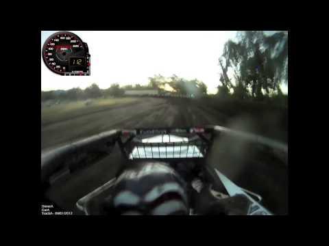 Tony Hunt : USAC Sprint Car : Calistoga Speedway 2012 : GoPro with Traqmate Speedo.mov