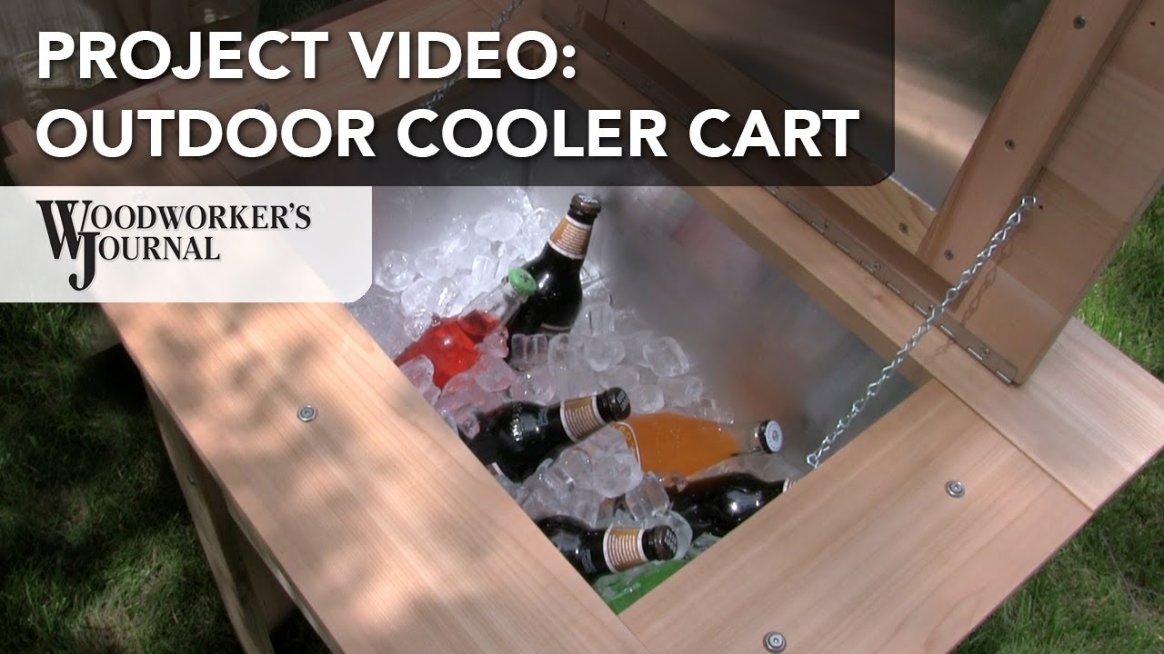 backyard cooler cart project diy project plan youtube