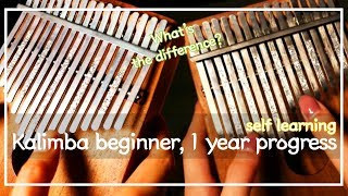 Kalimba Beginner 1year progress, Self-learning (What's the difference?) l 칼림바 독학 1년 (두 칼림바는 뭐가 다를까?)