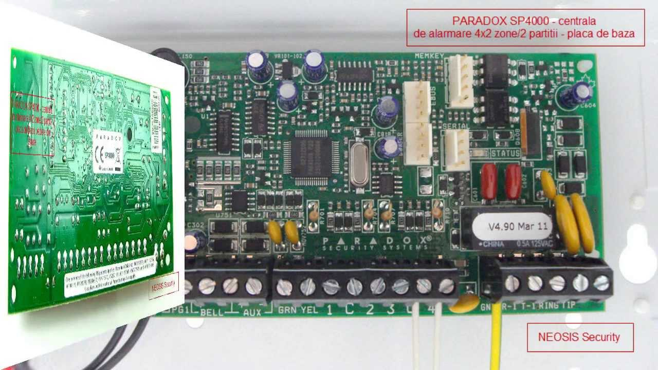 maxresdefault centrala alarma paradox spectra sp4000 neosis youtube paradox sp4000 wiring diagram at edmiracle.co