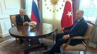 Первые кадры из Анкары встречи Владимира Путина с Реджепом Тайипом Эрдоганом.