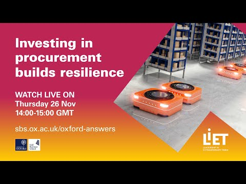 Investing in Procurement Builds Resilience