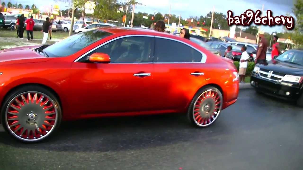 Candy Orange 2012 Nissan Maxima On 24 Quot Asantis 1080p Hd