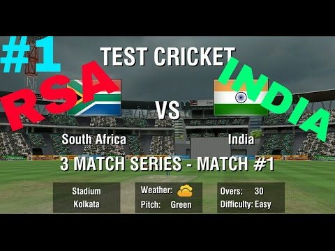 World Cricket Championship 247all out 3 Test match Between SOUTH AFRICA vs INDIA 1st innings
