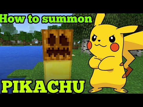 How to summon PIKACHU in Minecraft Pe