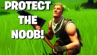 PROTECT THE NOOB (FORTNITE BATTLE ROYALE)