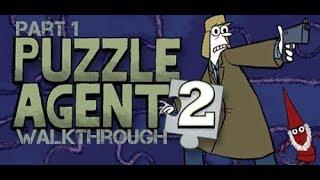 Puzzle Agent 2 - Walkthrough Part 1 (no commentary)