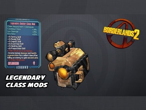 Commando Legendary Class Mods