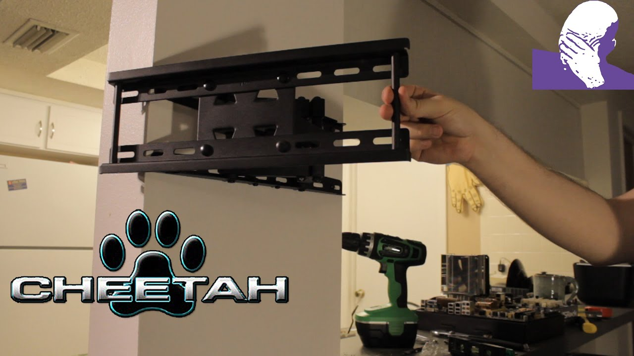 [TiG] Review: Cheetah Full Motion TV Wall Mount + Installation - YouTube