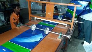 polymer sack roll cutting