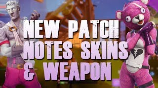 FORTNITE NEW VALENTINE UPDATE PATCH NOTES SKINS AND WEAPON