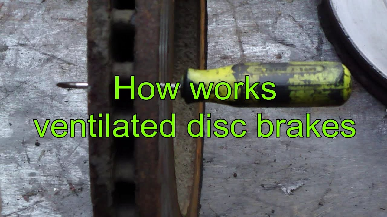 How works ventilated disc brakes vs basic disc