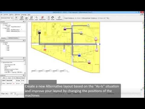 SIMOGGA Layout Design v0.9.9.1 - How to use the trial case - Shop floor layout Optimization