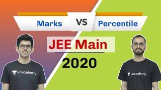 Marks Vs Percentile | JEE Mains 2020 | IIT JEE 2020 | Unacademy JEE | Paaras Sir | Sameer Sir