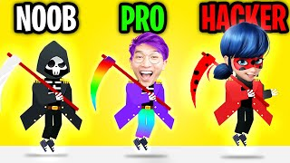 Can We Go NOOB vs PRO vs HACKER In DEATH INCOMING!? (ALL LEVELS!)