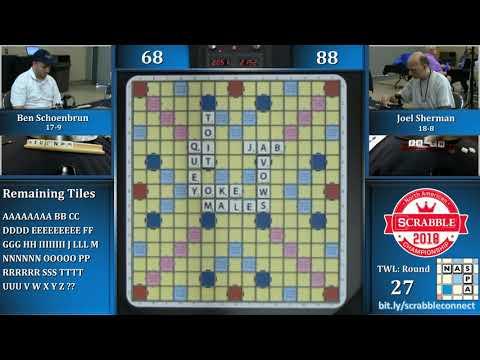 North American Scrabble Championship Round 27