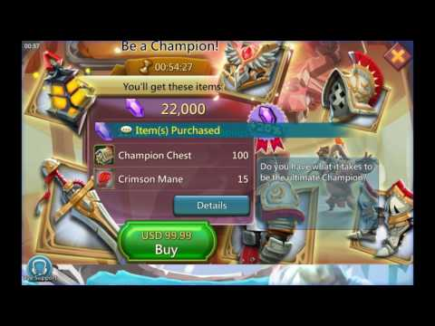 Lords Mobile - T4 Achieved And Champion Pack Opening