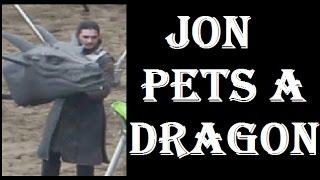 Game of Thrones Season 7 SPOILERS - JON WILL PET A DRAGON