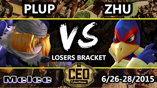 CEO 2015 - Poor Zhu (Falco) Vs. Plup (Sheik) SSBM Losers Bracket - Smash Melee