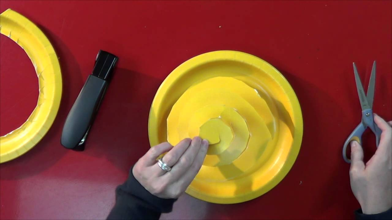 How to Make Paper Plate Roses & How to Make Paper Plate Roses - YouTube