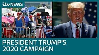 President Donald Trump begint aan campagne voor presidentschap 2020