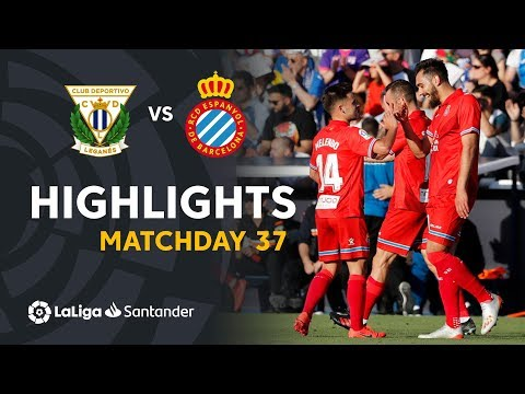 Highlights CD Leganes vs RCD Espanyol (0-2)