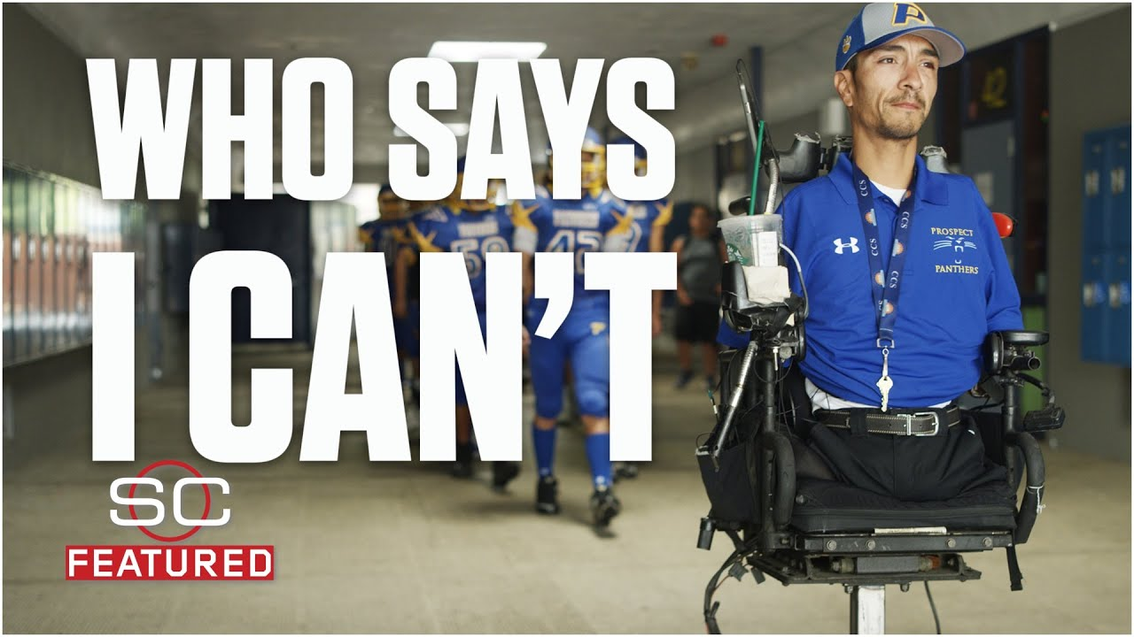 Rob Mendez, football coach without arms or legs, inspires his team | SC Featured - YouTube
