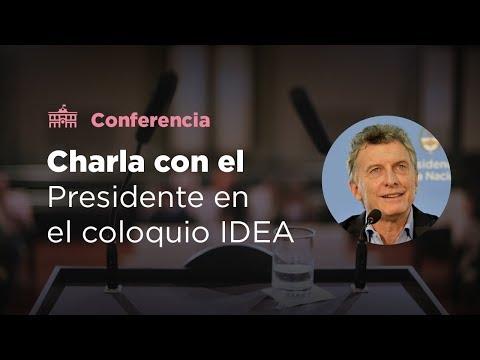 El presidente Mauricio Macri cierra el Coloquio de IDEA.