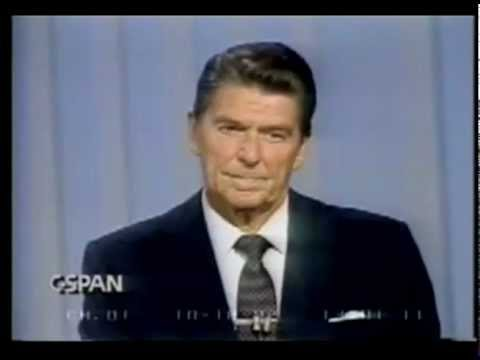 1980 Ronald Reagan and Jimmy Carter Presidential Debate Oct 28