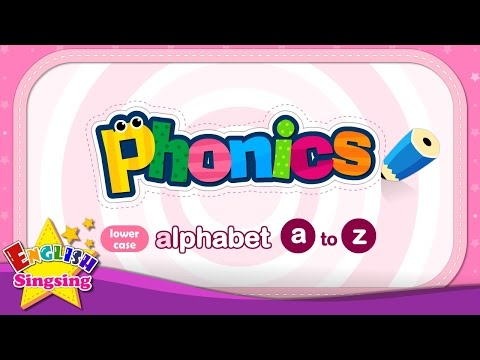 Phonics Alphabet - Letter a to z -  Lower Case (small letter)   Learn English for kids