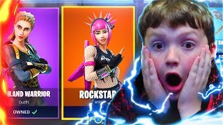 Little Brother FREAKS Out! Surprising My Little Brother With 2,000 V-BUCKS For NEW Skins! (Fortnite)