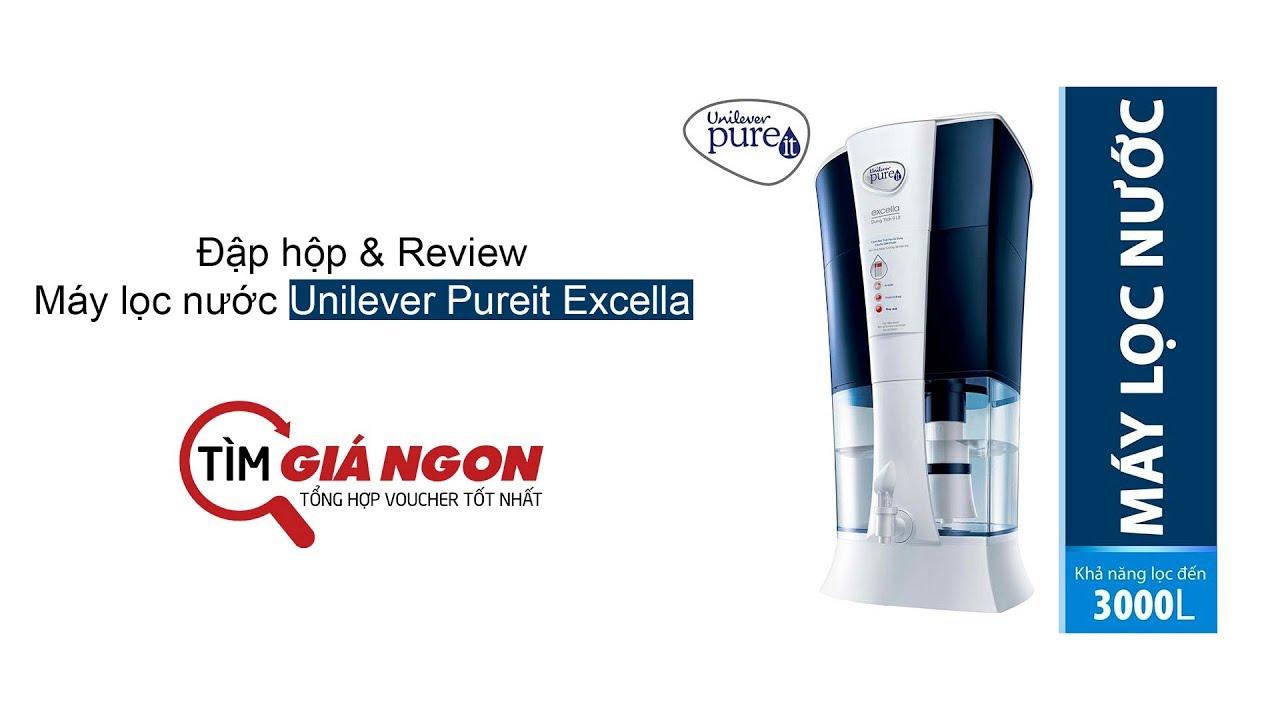 Đập hộp bình lọc nước Unilever Pureit Excella, Review cảm nhận