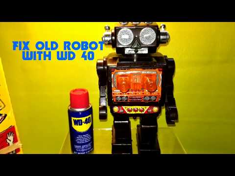Wd 40 Simple Trick To Fix Old Toy Robot Life Hack No Mess