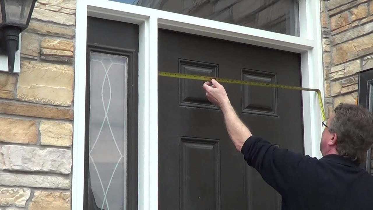 How To Measure For A Storm Door Youtube