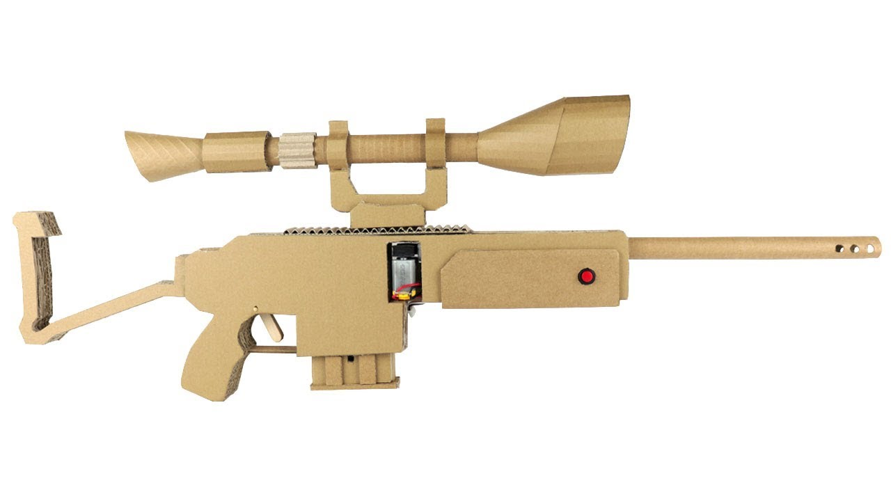 How To Make Fortnite Sniper Cardboard Youtube