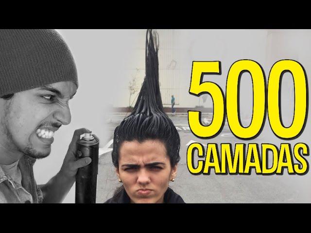 FOI NO SHOPPING COM 500 CAMADAS DE LAQUÊ NO CABELO!