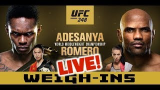 UFC 248 Official Weigh-Ins:  Israel Adesanya vs Yoel Romero