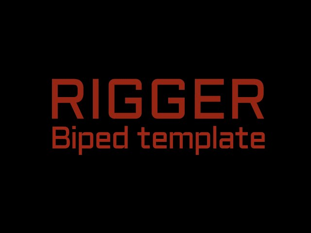 Rigger: Biped Template (skin helpers only - without paint skin weights)