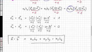 Multiplikation von Vektoren Teil 2