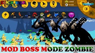 🙀 UNBELIEVABLE MANY BOSS ZOMBIE 😱 MODE HELL ENDLESS DEADS 😂 STICK WAR LEGACY MOD APK#3   Gaming #FHD