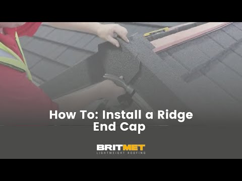How to tile a roof with lightweight metal roof tiles: Ridge End Cap
