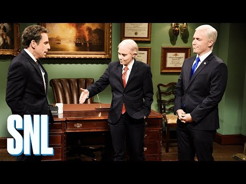 Meet the Parents Cold Open - SNL: President Donald Trump's lawyer, Michael Cohen (Ben Stiller), is questioned by Robert Mueller (Robert De Niro).  #SNL #SNL43  Get more SNL: http://www.nbc.com/saturday-night-live Full Episodes: http://www.nbc.com/saturday-night-liv...  Like SNL: https://www.facebook.com/snl Follow SNL: https://twitter.com/nbcsnl SNL Tumblr: http://nbcsnl.tumblr.com/ SNL Instagram: http://instagram.com/nbcsnl SNL Pinterest: http://www.pinterest.com/nbcsnl/