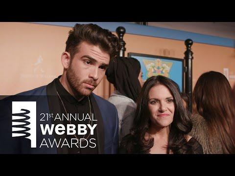 Hasan Piker and Nomiki Konst on the Red Carpet at the 21st Annual Webby Awards