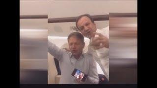 Опубликовано забавное видео пьянки команды Медведева в суперджете. Денег нет, но они держатся!!