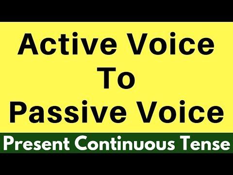 Active voice to Passive voice- Present Continuous Tense