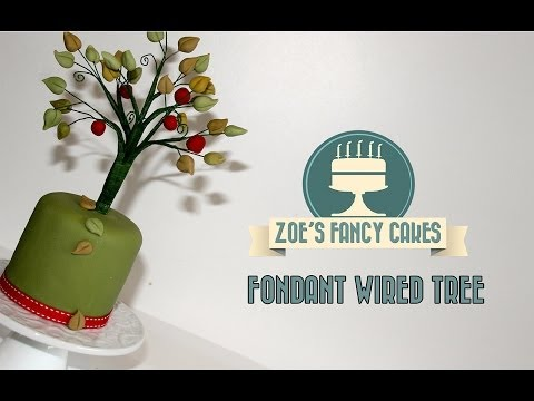 How To Make A Fondant Wired Tree Cake Decorating How To