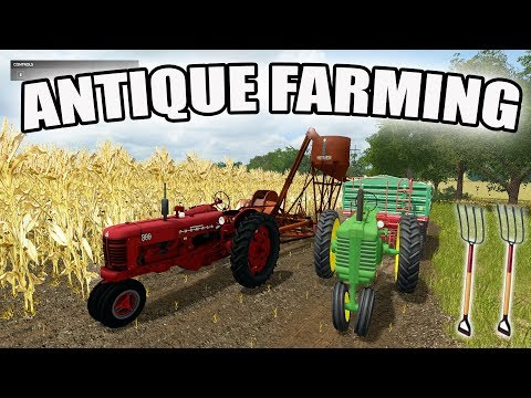 FARMING SIMULATOR 2017   ANTIQUE FARMING   2 ROW CORN PICKER + MODEL A