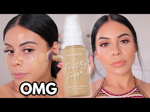 NEW COLOURPOP PRETTY FRESH FOUNDATION: Review & Wear Test....Ehhh is it worth it?
